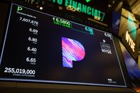 Trading On The Floor Of The NYSE As U.S. Stocks Rally After Jobless Rate Sinks