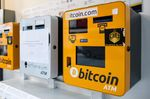 ATM machines for digital currency in Hong Kong.