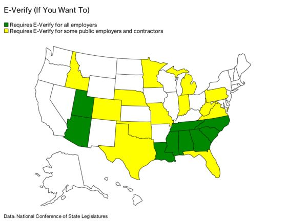 E-Verify Laws Across Southern Red States Are Barely Enforced
