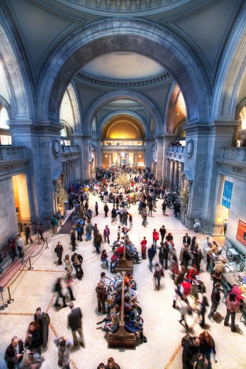 The Great Hall of the Metropolitan Museum of Art in New York, where the decibel level was around 77, equivalent to someone speaking loudly three feet away from you.