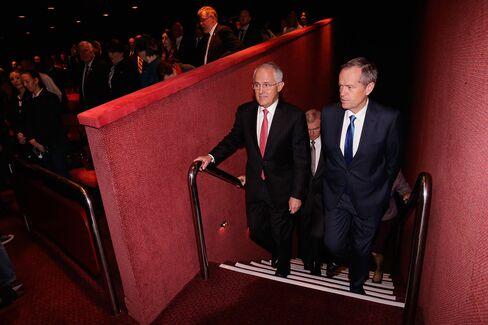 Prime Minister Malcolm Turnbull, left, and Opposition leader Bill Shorten.