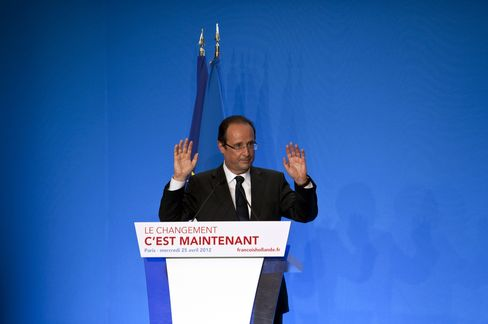 French Socialist Presidential Frontrunner Francois Hollande