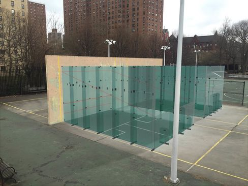 A rendering of the squash court at Hamilton Fish Recreation Center.