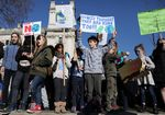 A youth strike for climate change in London last month.