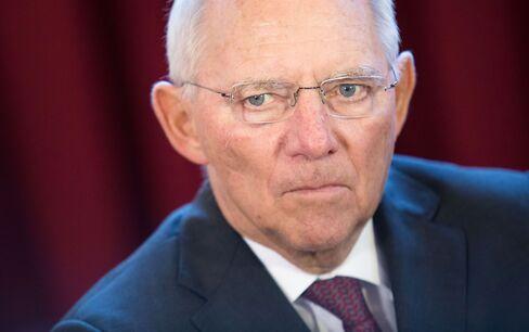 Wolfgang Schaeuble in Bratislava on Sept. 9.
