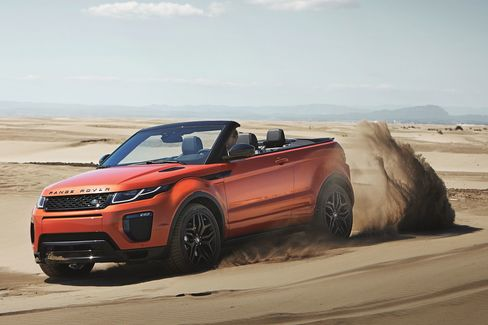 Apparently the Evoque Convertible will also tackle the desert.