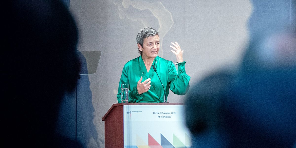 Vestager Calls Tech Firms Robot Vacuum Cleaners Sucking Up Data