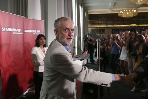 Jeremy Corbyn at a news conference on June 25.