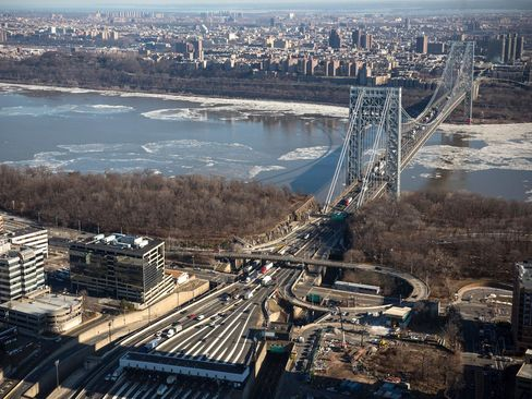 The New Jersey side of the George Washington Bridge, which connects Fort Lee, N.J., and New York City, on Jan. 9, 2014.
