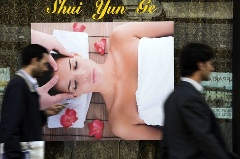 Milan Massage Parlors Push Out Mom-and-Pop Shops