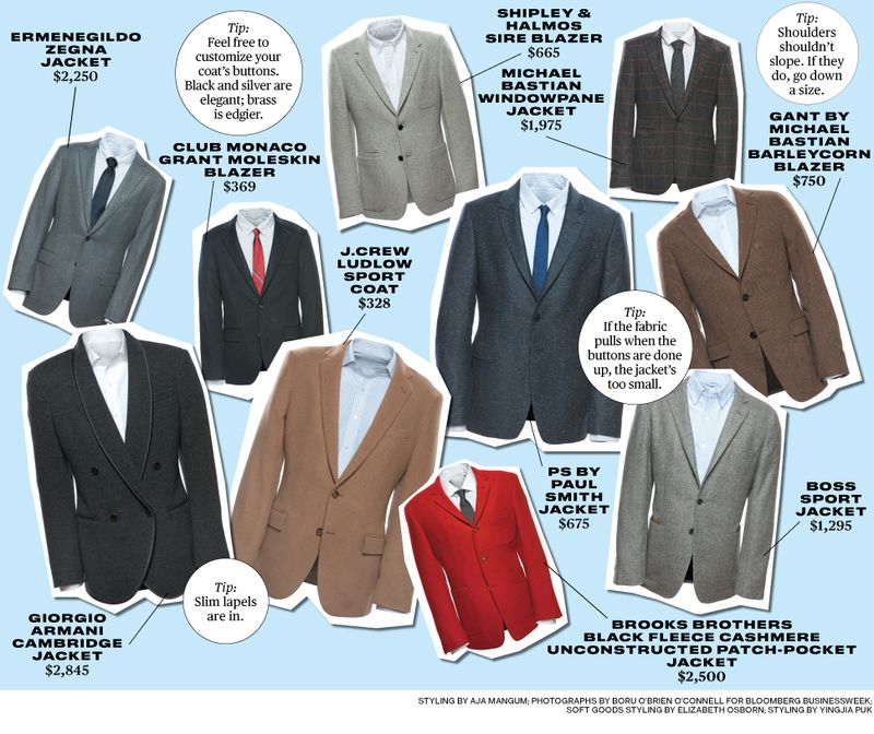 Cool Sport Coats in a Variety of Colors and Patterns - Bloomberg
