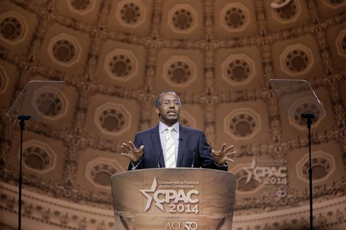 Dr. Ben Carson speaks at the 2014 Conservative Political Action Conference.