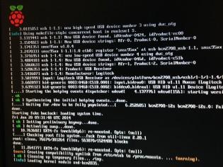 Raspian OS starting up.
