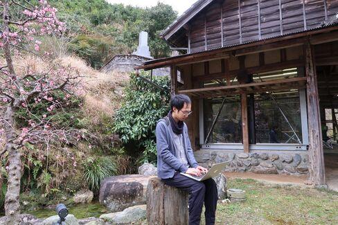 Sansan神山オフィスの初代常駐者、團洋一さん
