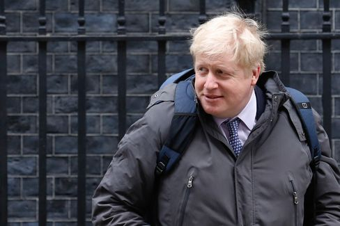 Boris Johnson leaves 10 Downing Street in London, on March 8.