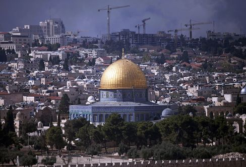 General Views Of The Temple Mount Compound And The Dome Of The Rock