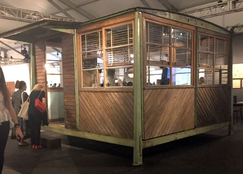 French architect Jean Prouve designed this prefabricated hut for the French army in 1939. Seen here at Design Miami, it's now priced at $2 million.