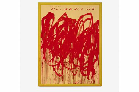 Cy Twombly's Untitled [Bacchus 1st Version V], 2004