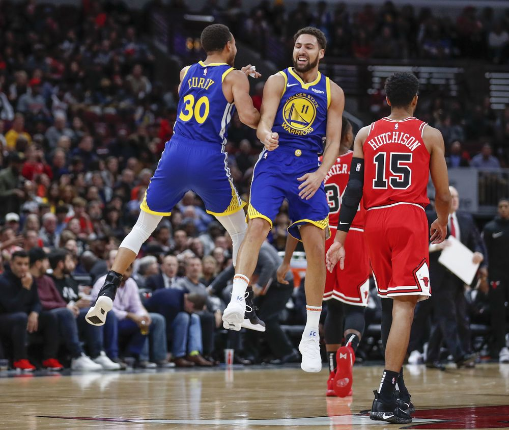 cff8f99a0b6 Warriors  Klay Thompson Sets 3-Point Shooting Record With 14