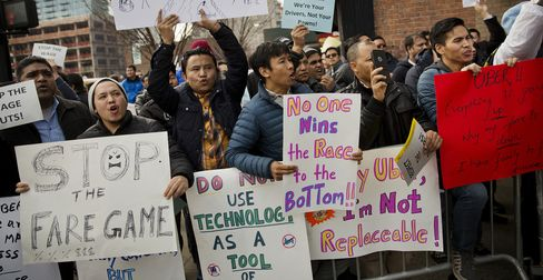 Uber Technologies Inc. Drivers Protest At New York Headquarters
