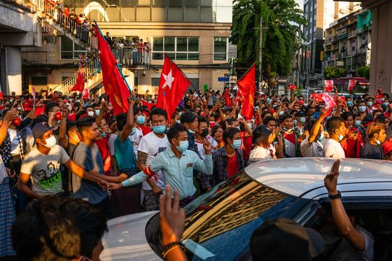 U.K. Sees Myanmar Coup as Irreversible, Risk of Violence Rising
