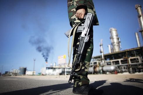 Libyan Oil Guards Protect National 'Blood' From Desert Enemy