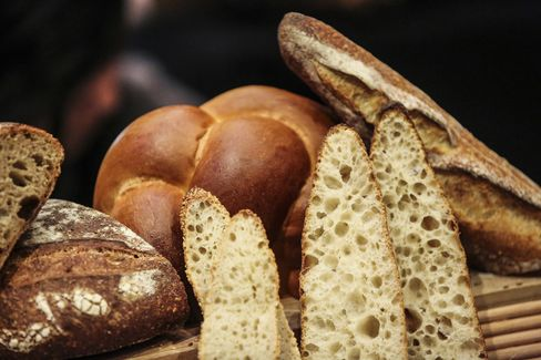 A display of bread was like a baker's peep show: just look at those air pockets.