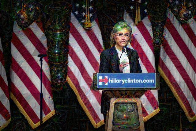 Hillary Clinton, DeepDream