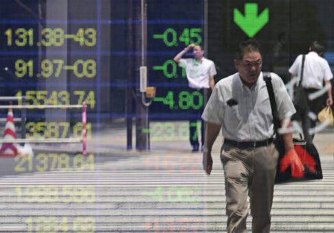 Asian Stocks to Won Slip on U.S. Data as Kiwi Rallies