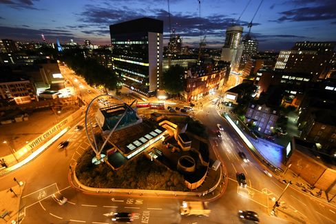 Old Street's Silicon Roundabout in London.