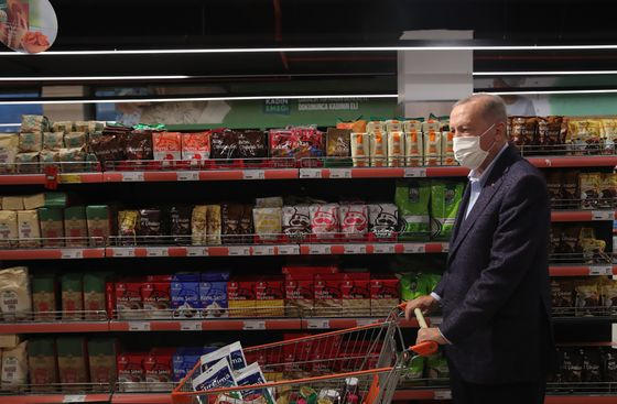 Erdogan Turns to Food Coops as Turkish Inflation Jumps Again