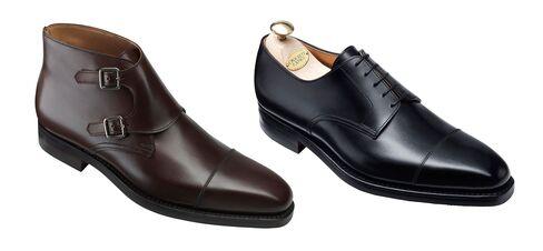 Bond wore multiple shoes from the British shoemaker Crockett & Jones.