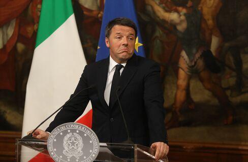 国民投票後に辞意を表明したレンツィ首相