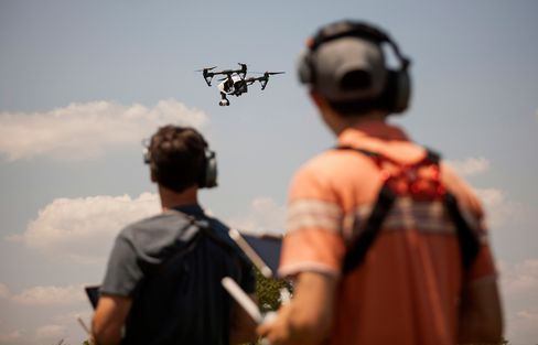 A DJI Inspire drone flies over Brooklyn's Calvert Vaux Park. Manufacturers expect to sell 700,000 recreational drones in 2015.