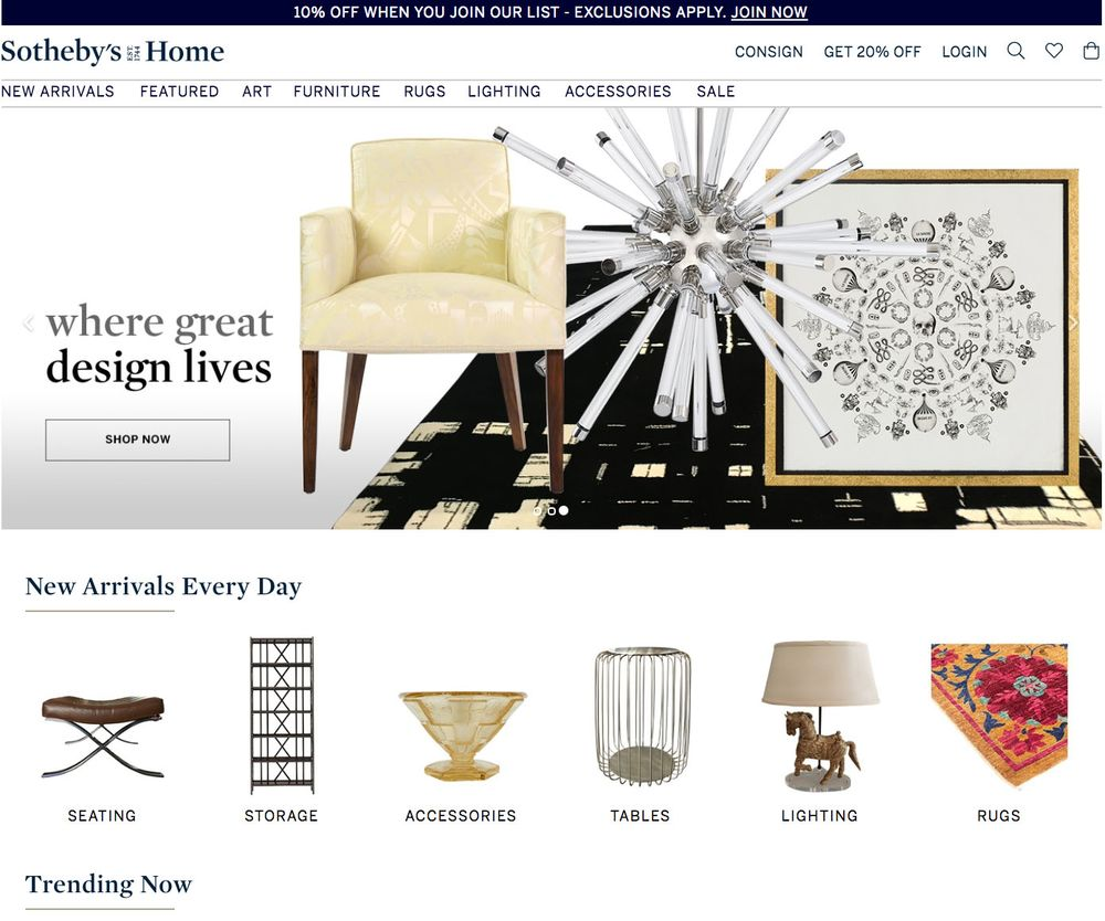 Sotheby S Home Takes Online In New Consignment