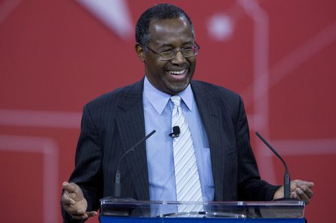 Ben Carson speaks at the Conservative Political Action Conference in National Harbor, Maryland, on February 26, 2015.