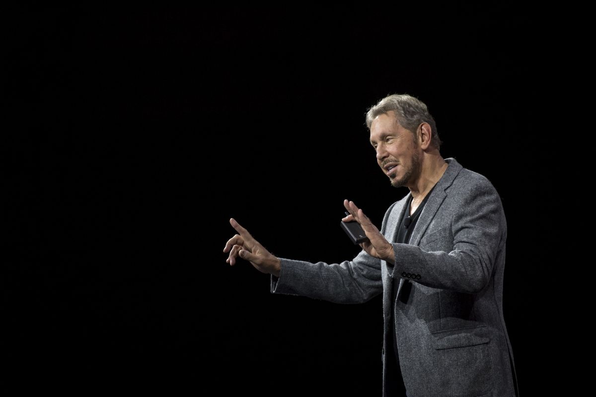Trump Backer Larry Ellison Gets President's Support in Google Fight
