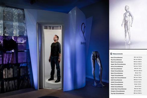 Suran: Body shape Suran steps into a 3D body scanner once a month to map his body shape and record measurements that would be unreliable at best if done by hand. The scanner gives Suran precise measurements along with a 3D map of his body that can be manipulated to show how he will look if he gains or looses weight.?I got interested in monitoring my body-shape after my Uncle died of a heart attack. One of the best predictors of heart disease is the size of your belly, but getting consistent and accurate measurements by a tape measure is hard. Even if you take several experienced tailors, they will all give you different measurements for, say, your abdomen circumference. The body-scanner, which I use once a month, gives me accurate and consistent measurements so I know that I am on track with my diet and swimming.?