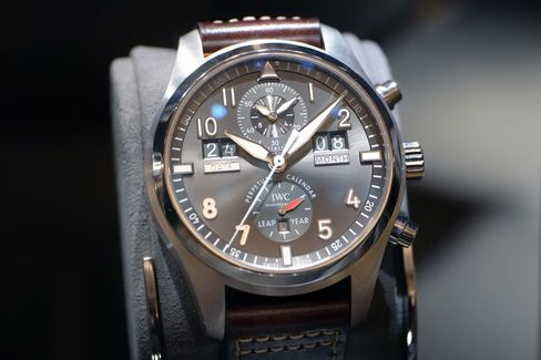 The IWC perpetual uses a different style of display, with both date and month windows.