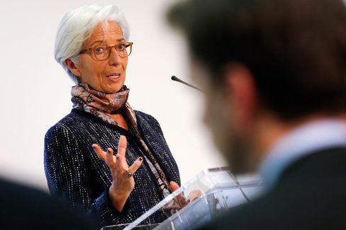 IMF Managing Director Christine Lagarde And U.K. Chancellor Of The Exchequer Hold A Joint News Conference