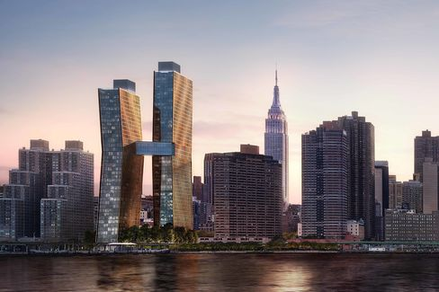 A final rendering of the American Copper Buildings.