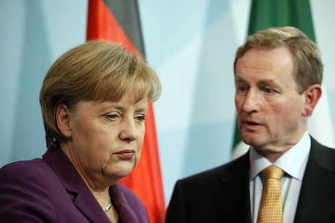 Chancellor Angela Merkel and Prime Minister Enda Kenny