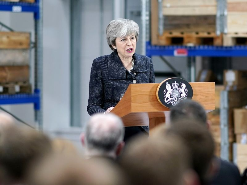 Theresa May Delivers A Speech In Lincolnshire
