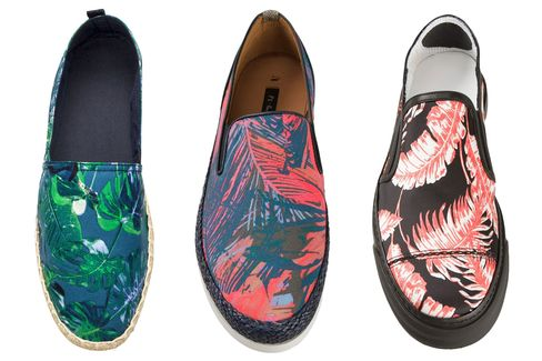 Noncommittal palm prints from (left to right) H&M, Paul Smith, and Marc Jacobs.