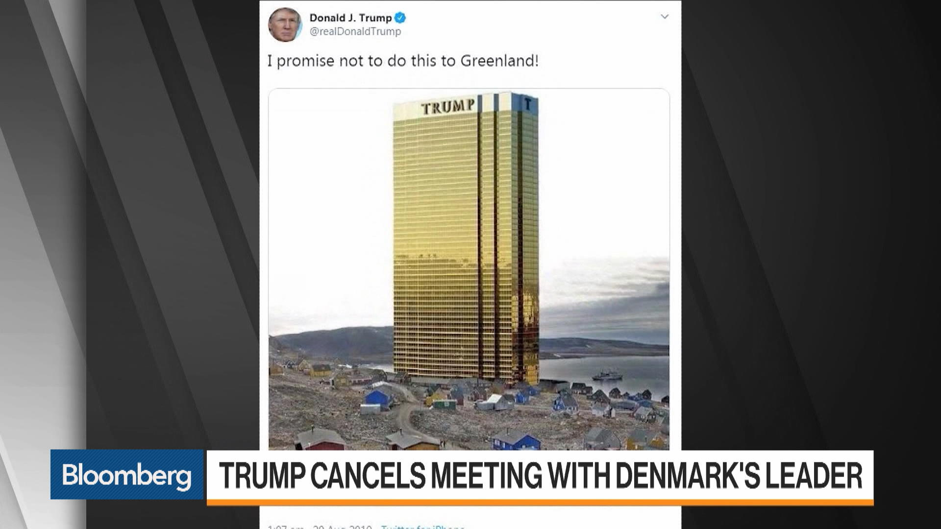 Trump Cancels Meeting With Denmark's Leader