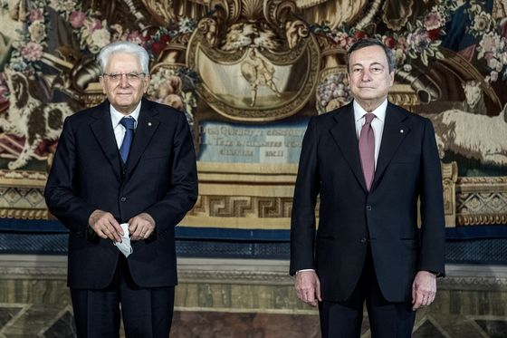 Draghi Coalition at Risk From Italy President's Retirement
