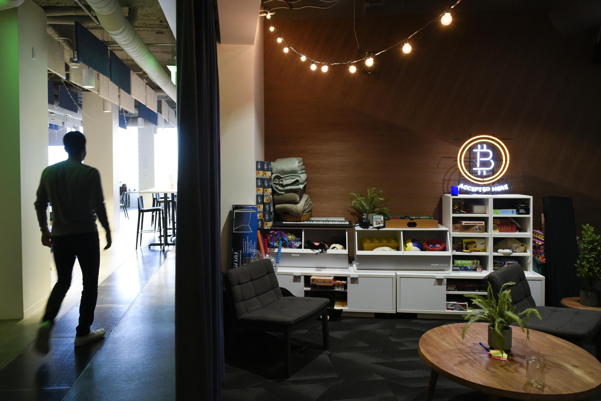 Coinbase office in San Francisco.