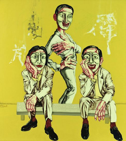 A painting measuring 200 by 180 centimeters, completed in 1996 by Chinese artist Zeng Fanzhi, belonging to the permanent collection of the Shanghai Long Museum. Liu Yiqian, together with his wife, Wang Wei, an avid collector of revolutionary and contemporary art, would like to build something to rival the Guggenheim or the Metropolitan Museum of Art.