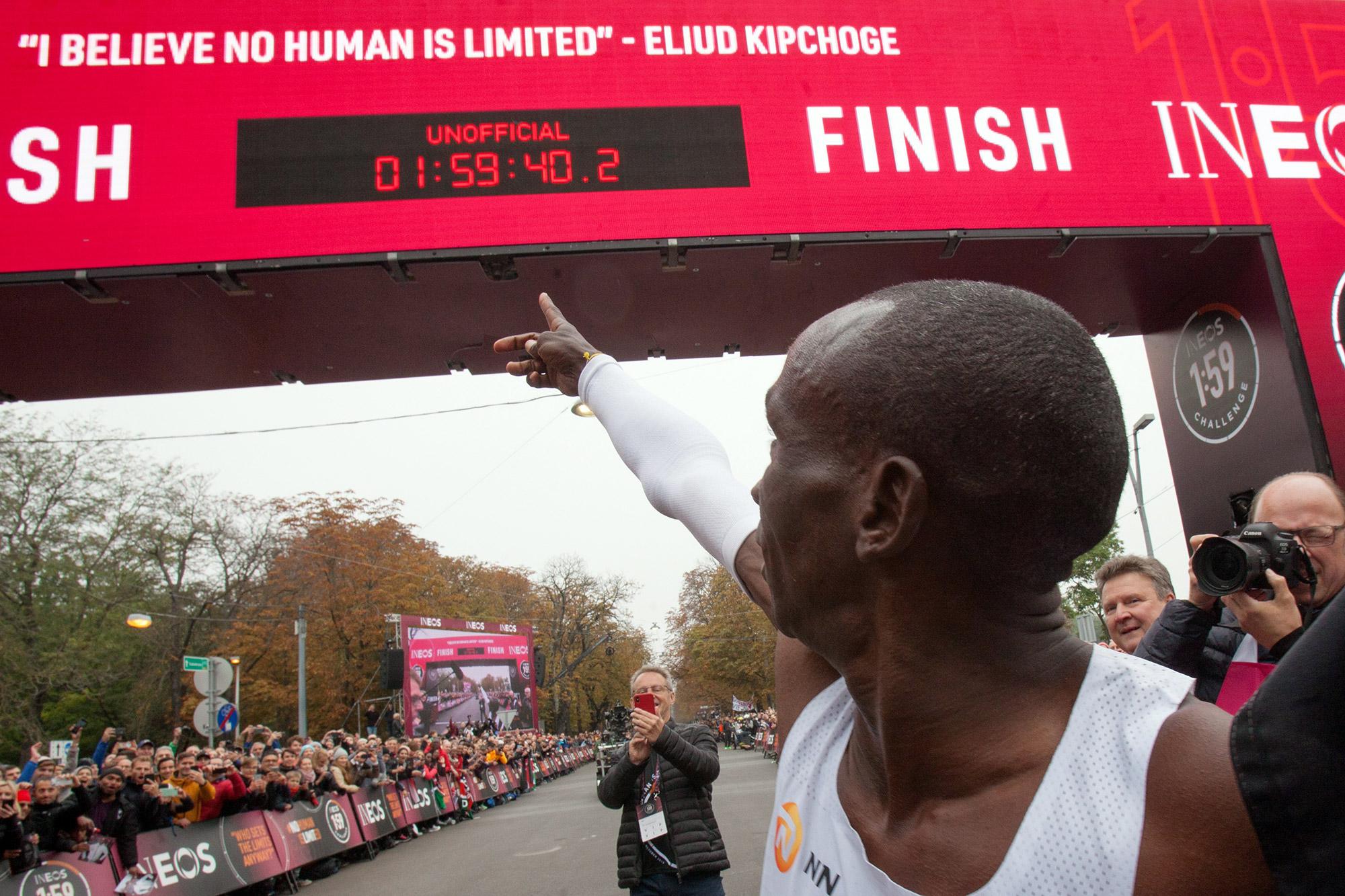 No Human Is Limited': Kipchoge Runs Sub-2 Hour Marathon - Bloomberg
