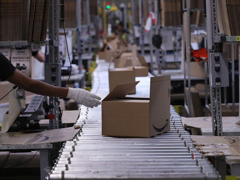 Inside An Amazon Inc. Fulfilment Center On Prime Day